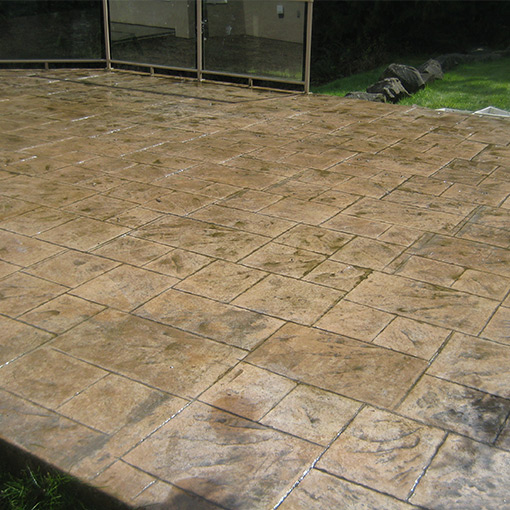 Stamped Concrete - After